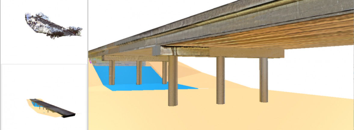 As-is BIM model generation system for bridge inspection
